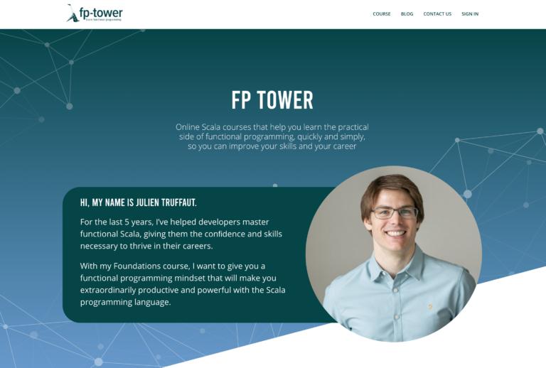 Capture d'écran du site internet fp-tower